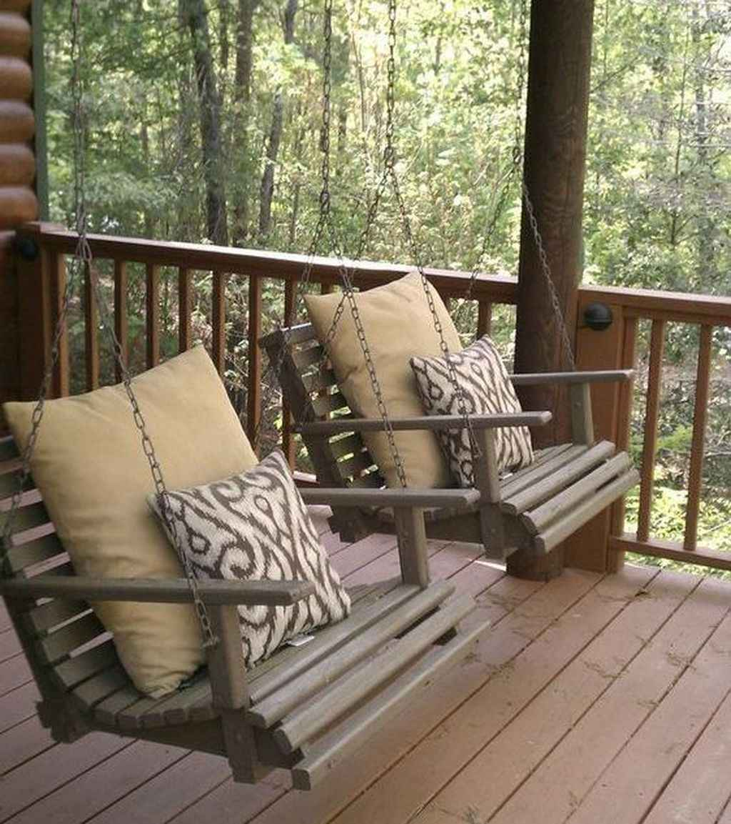 05 Awesome Farmhouse Porch Swing Plans Ideas