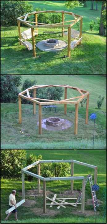 15 Easy Cheap Backyard Fire Pit Seating Area Design Ideas
