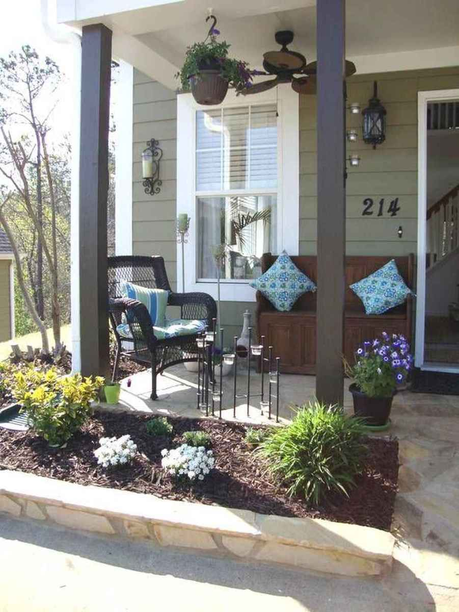 17 Small Front Porch Seating Ideas for Farmhouse Summer