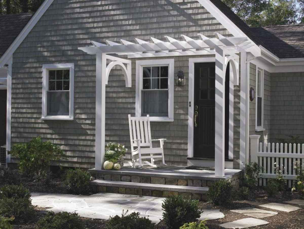 42 Small Front Porch Seating Ideas for Farmhouse Summer