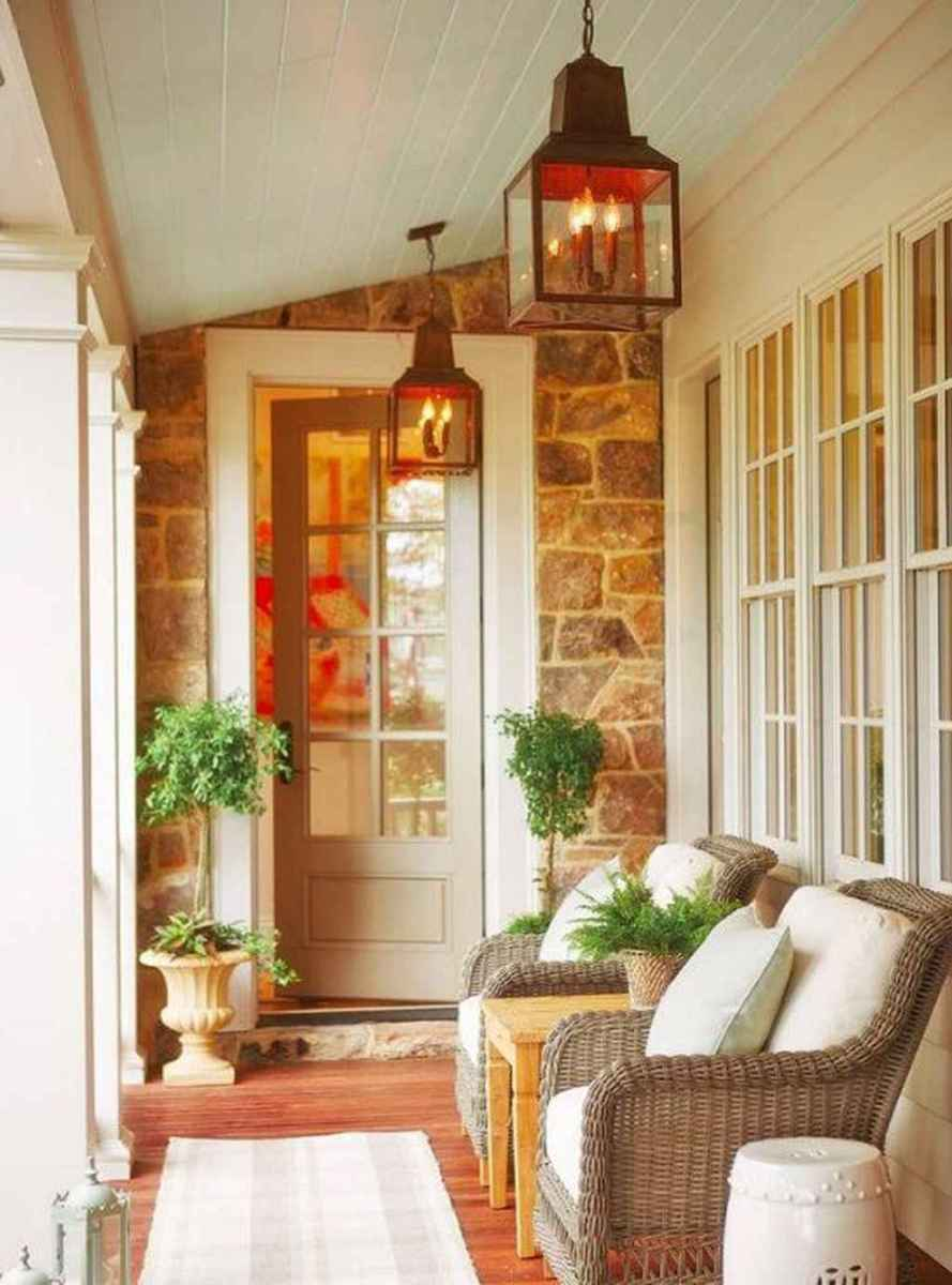 46 Small Front Porch Seating Ideas for Farmhouse Summer