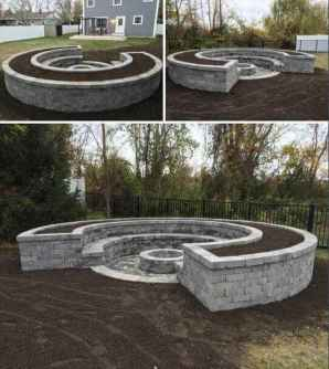 51 Easy Cheap Backyard Fire Pit Seating Area Design Ideas