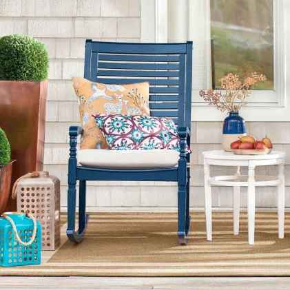 59 Small Front Porch Seating Ideas for Farmhouse Summer