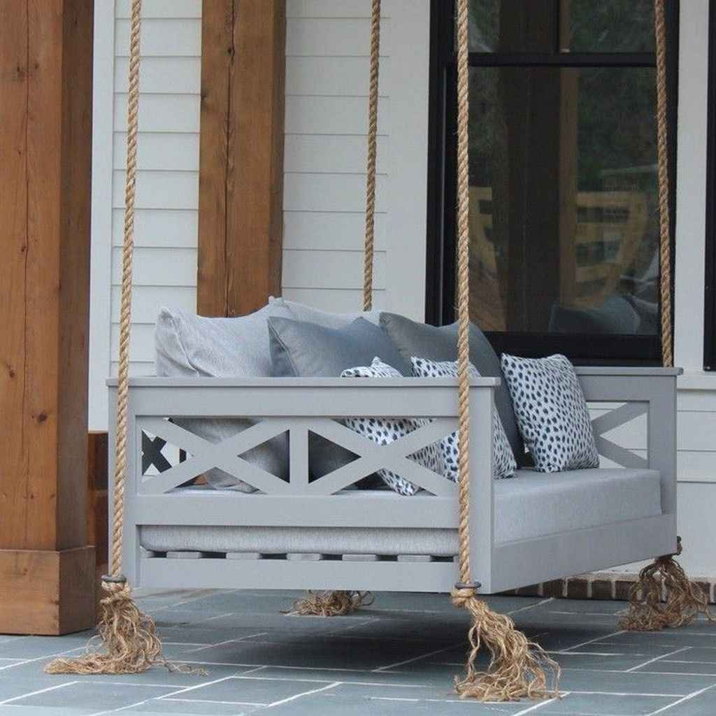 62 Awesome Farmhouse Porch Swing Plans Ideas
