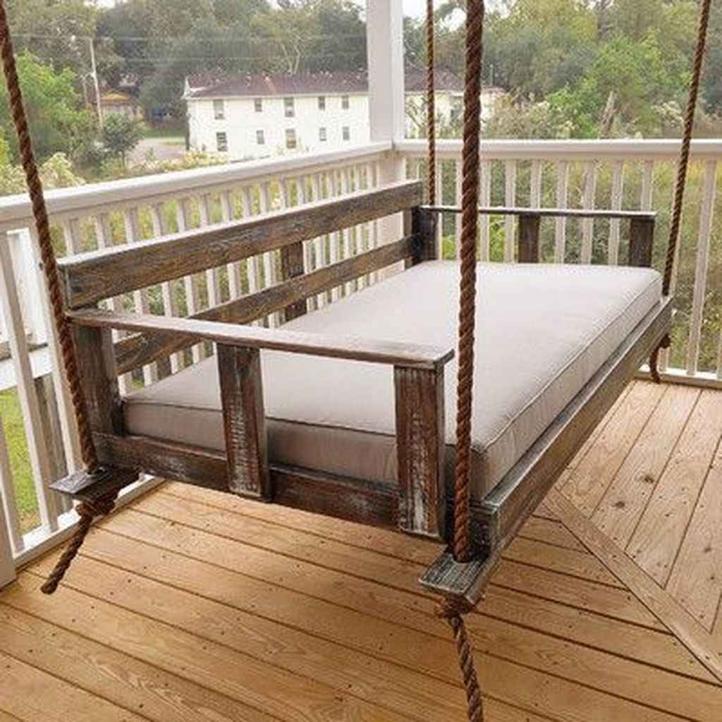 63 Awesome Farmhouse Porch Swing Plans Ideas