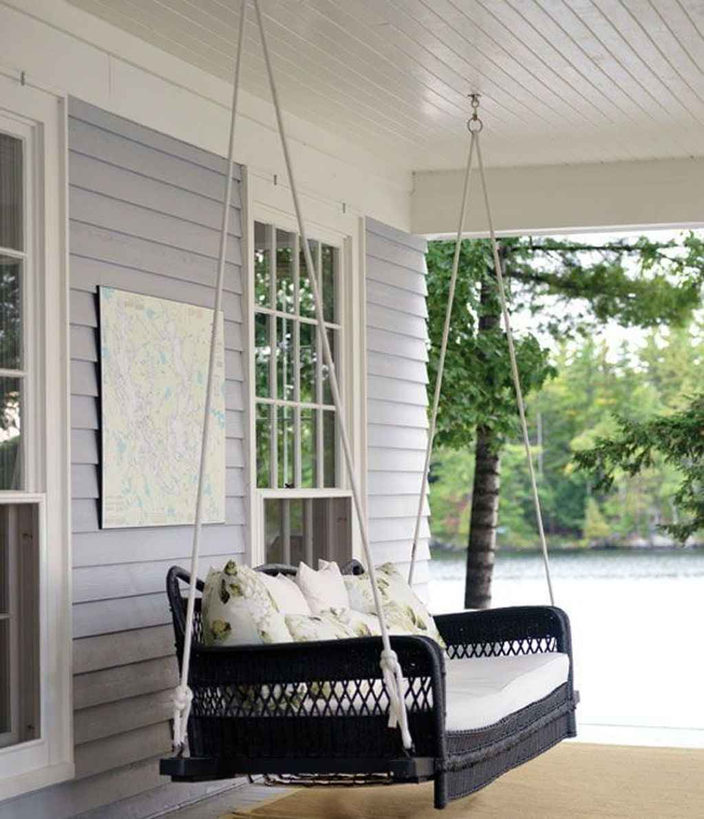 64 Awesome Farmhouse Porch Swing Plans Ideas