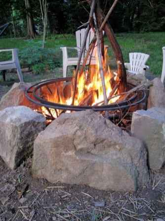 97 Easy Cheap Backyard Fire Pit Seating Area Design Ideas