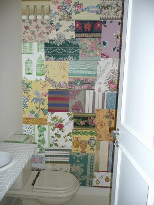 decoracion original con papeles para una pared