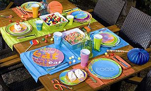 preparar la mesa en exteriores