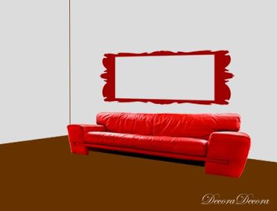 composicion de cuadros sobre un sofa