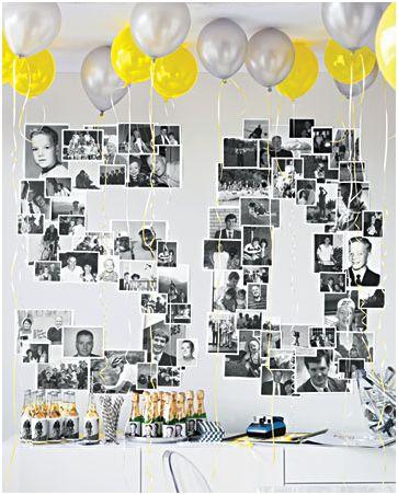 Idea para decorar el cumpleaños de un adulto.