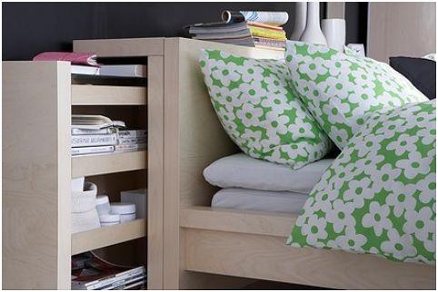 Cabeceros de cama con almacenaje.
