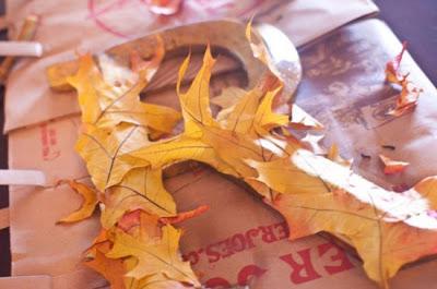 Hacer corona de otoño