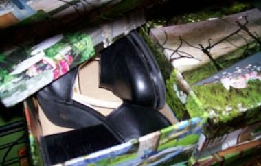 decorar con cajas de zapatos