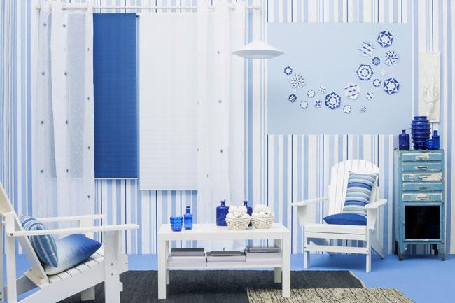 Decoración de verano azul.