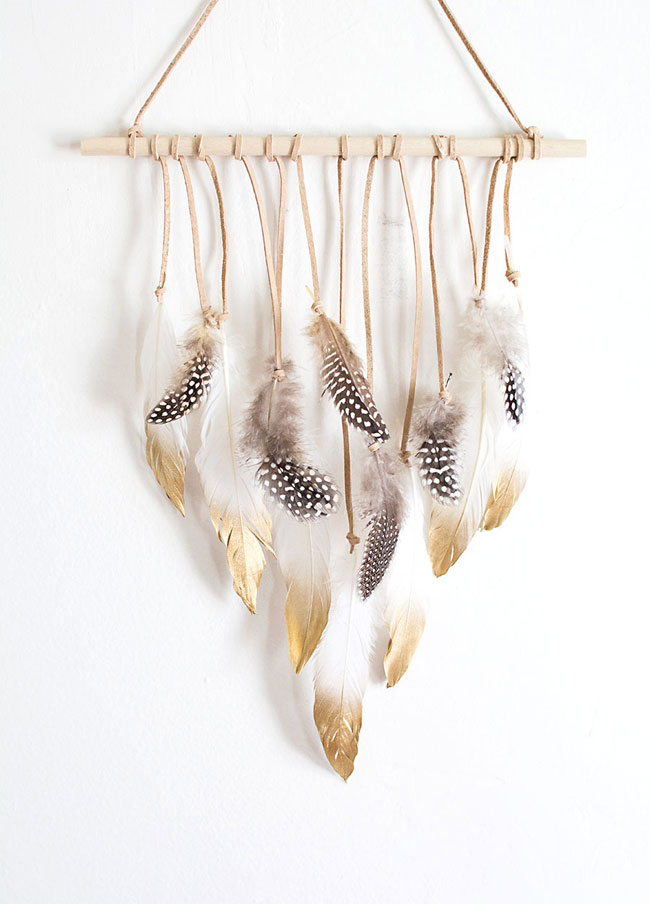 Colgante plumas.
