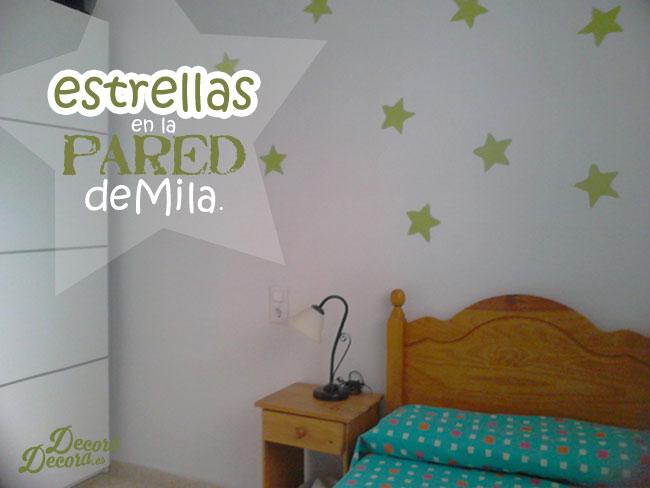Pintar estrellas en la pared.
