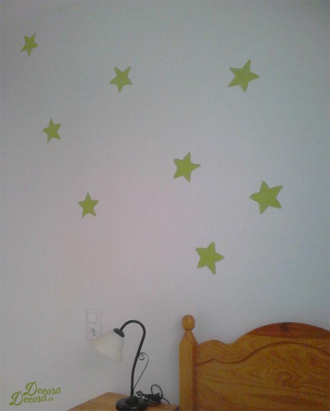Pintar estrellas.