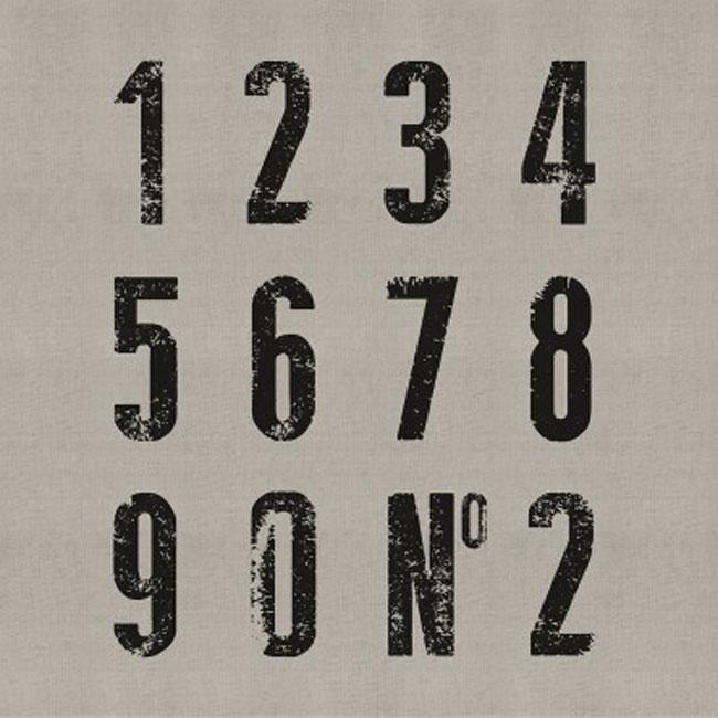 Papel pared números