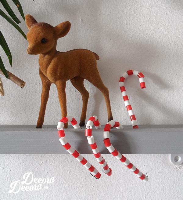 Bastones de Navidad Hama Beads