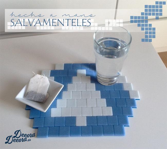 Salvamanteles hecho a mano con mosaico