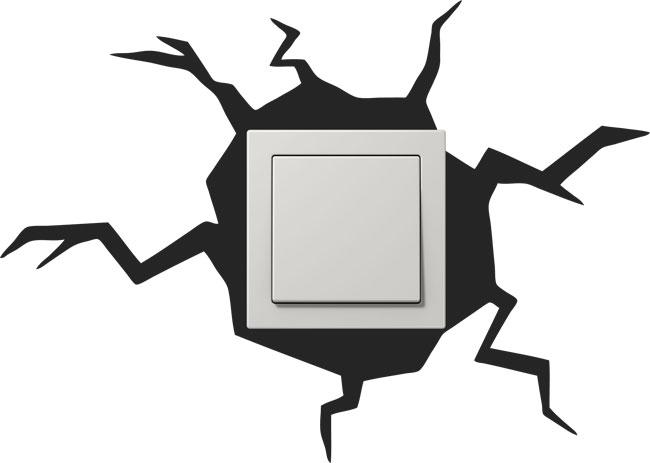 Adhesivos para decorar interruptores