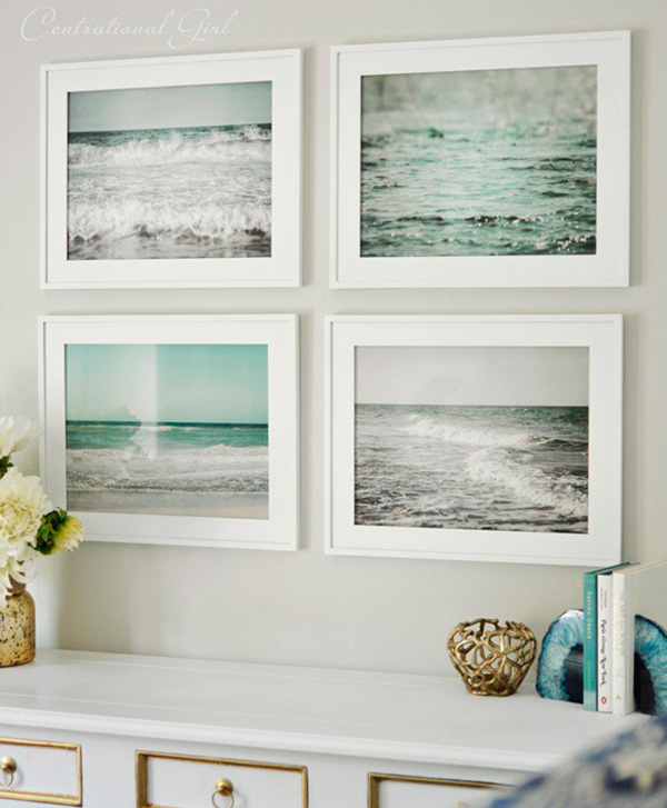 Decorar con fotos de playa