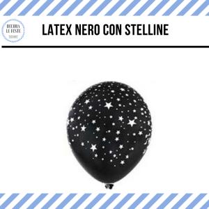 palloncino nero stelline