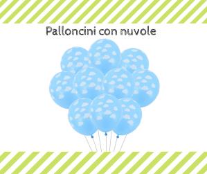 palloncini con nuvole