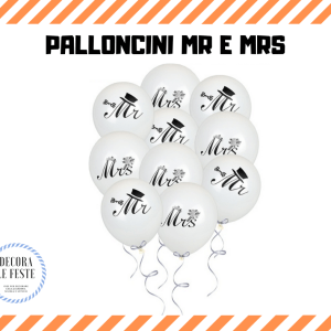 palloncini mr & mrs