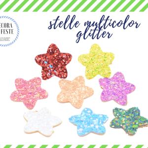 patch stelle glitter