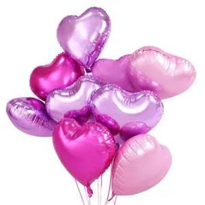 palloncino cuore viola