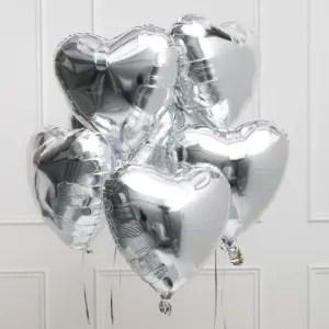 palloncino cuore argento
