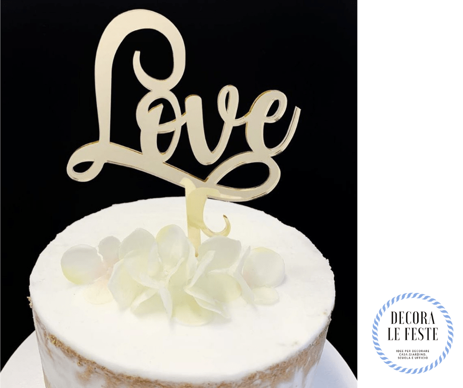 decorazione torta love