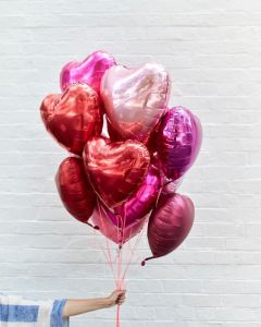 palloncini cuore viola