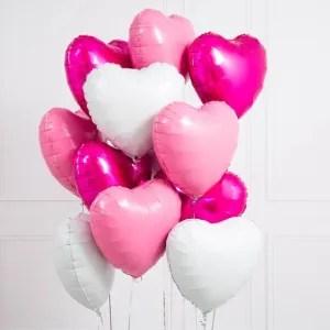 palloncino cuore bianco