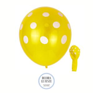 palloncino pois giallo