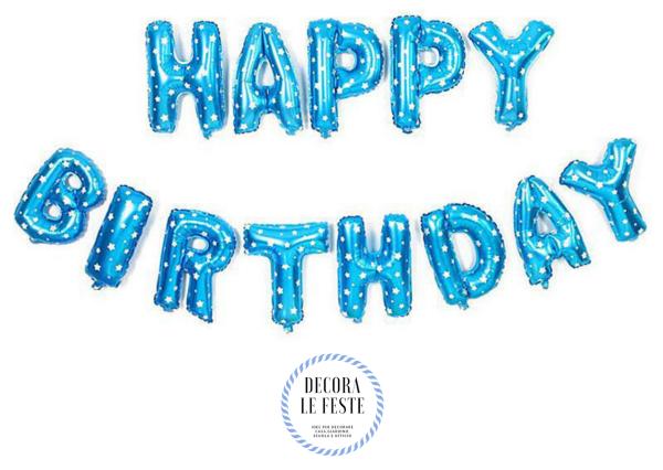 festone palloncini happy birthday
