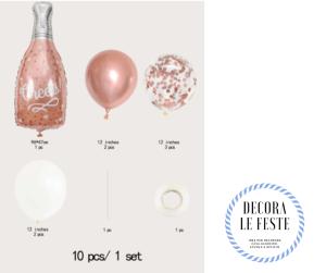 palloncino bottiglia rosa