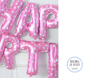 palloncino lettere happy birthday