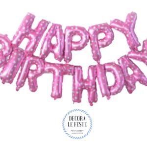 palloncino buon compleanno rosa