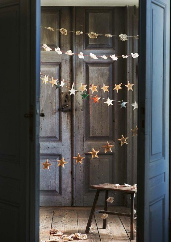 Guirnalda de estrellas navideñas