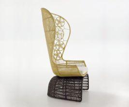 Crinoline armchair for BBITalia
