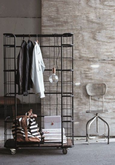 9. Clothes display storage by House Doctor. Inspired by old trolleys found in 1940's factories. Versitile and stylish.