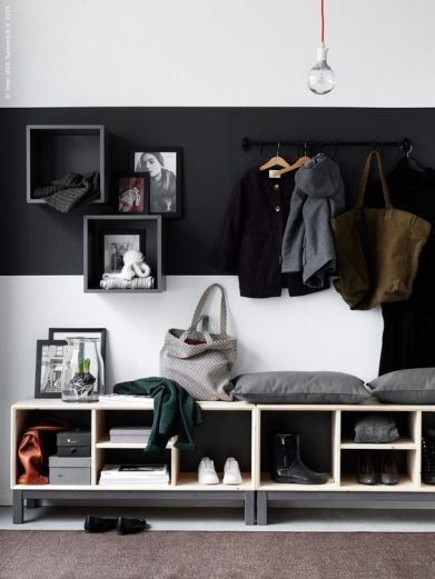 5. Ikea proposal, painting the wall in grey and white, same as the colors of the furniture.