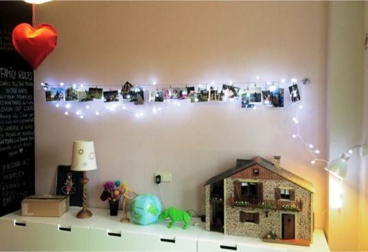 Fotos decorando una habitación infantil