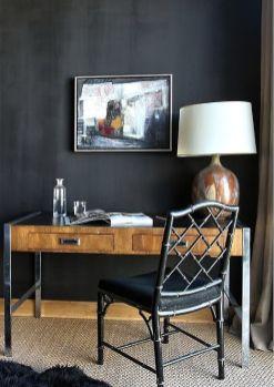 Mueble contemporáneo que sirve bien como escritorio o como espacio para la Tv