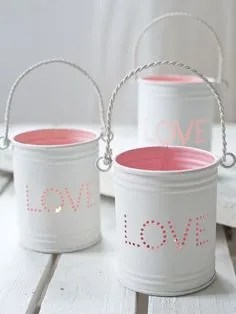 6. Candles made with tins