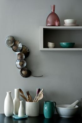 Lower-priced Canvas line—the white and pastel ceramic
