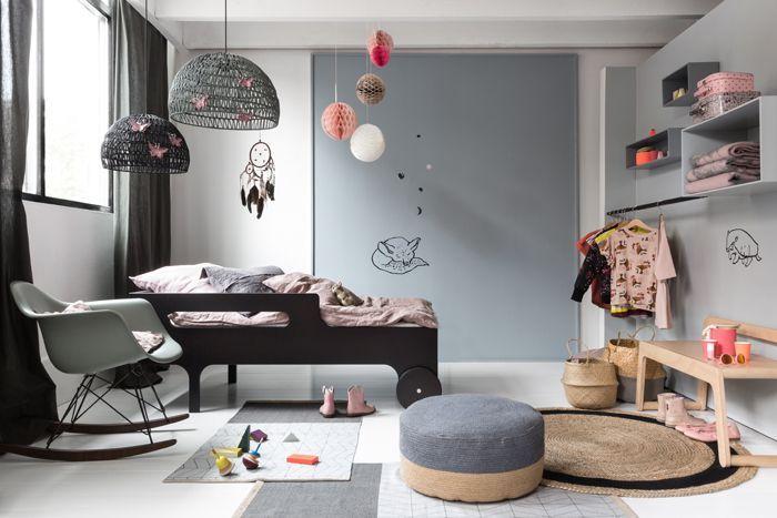 Gris para niños - Destaca el mobiliario